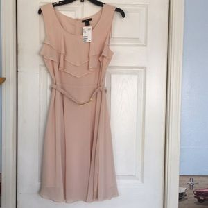 H&M ruffle blush dress